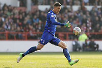 Costel Pantilimon of Nottingham Forest in action during the Sky Bet Championship match between Nottingham Forest and Swansea City at City Ground, Nottingham, England, UK. Saturday 30 March 2019