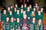Loreto NS Killarney pupils who were confirmed by Bishop Bill Murphy in St Mary's Cathedral, Killarney on Friday front row l-r: Saoirse O'Connor, Abbey O'Donoghue, Sarah Burns, Aoife Farrell, Emily Cronin. Middle row: Niamh Randles, Oran Flaherty, Lorcan McMonagle, Luke Casey, Aisling O'Mahony, Sean Courtney. Third row: Shannon O'Shea, Ciara Kelliher, Luke O'Donoghue, Caoimhe kelly, Ciara Carroll. Back row: Cian Gamble, Harry Allen, Fiachra O'Connell, Kevn Lavery, Robin O'Brien and Mary O'Sullivan........