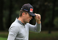 Joel Girrbach (SUI) on the 18th green during Round 1 of the Bridgestone Challenge 2017 at the Luton Hoo Hotel Golf &amp; Spa, Luton, Bedfordshire, England. 07/09/2017<br /> Picture: Golffile   Thos Caffrey<br /> <br /> <br /> All photo usage must carry mandatory copyright credit     (&copy; Golffile   Thos Caffrey)