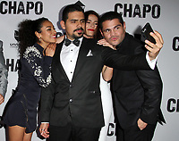 19 April 2017 - Los Angeles, California - Tete Espinoza, Alejandro Aguilar, Juliette Pardau and Marco De La O. Univision's 'El Chapo' Original Series Premiere Event held at The Landmark Theatre. Photo Credit: AdMedia