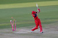 Liam Livingston of Lancashire is bowled by Aaron Beard during Lancashire Lightning vs Essex Eagles, Vitality Blast T20 Cricket at the Emirates Riverside on 4th September 2019