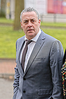 "COPY BY TOM BEDFORD<br /> Pictured: Victim David Evans arrives at Merthyr Tydfil Crown Court, Wales, UK. Tuesday 06 February 2018<br /> Re: A trial of chef Kamrul Islam who attacked a client with chilli powder is due to start Merthyr Tydfil Crown Court.<br /> David Evans was at the Prince of Bengal restaurant on Saturday night when the incident took place.<br /> The 46-year-old was out for dinner with his wife Michelle when they were asked by a waiter if they were enjoying their curry.<br /> The couple said they told the waiter their meal was ""tough and rubbery"" and he passed the complaint onto the head chef.<br /> Michelle said chilli powder was then thrown into her husband's eyes and he was taken to hospital."
