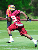 Cornerback David Amerson (39), the Washington Redskins' second round pick out of Georgia in the recent NFL draft, participates in the team's rookie minicamp at Redskins Park in Ashburn, Virginia on Sunday, May 5, 2013..Credit: Ron Sachs / CNP