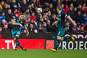 30th September, bet365 Stadium, Stoke-on-Trent, England; EPL Premier League football, Stoke City versus Southampton; Southampton's Dusan Tadic passes the ball to Southampton's Steven Davis