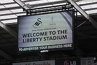 Pictured: One of the new giant tv screens. Saturday 23 August 2014<br />