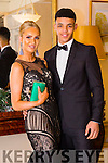 Enjoying the Gaelcholáiste Chiarraí Debs ball at the Brandon Hotel on Saturday were Muireann McKenna and Stefan Okunbor.