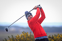 Adam Smith (Mullingar) on the 5th tee during the Final Round of the Connacht U18 Boys Open 2018 on Carne Golf Links at Belmullet Golf Club on Sunday 6th April 2018.<br /> Picture:  Thos Caffrey / www.golffile.ie<br /> <br /> All photo usage must carry mandatory copyright credit (&copy; Golffile | Thos Caffrey)