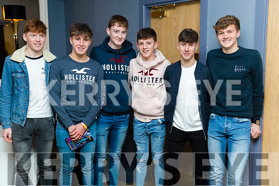 Kieran Coggins, Dylan Dunne, Darragh Broderick, Brian Cassidy, Darragh Keane and Cathal Dunne, enjoying Ballymac Strictly Come Dancing, at Ballygarry House Hotel & Spa, Tralee, on Saturday night last.