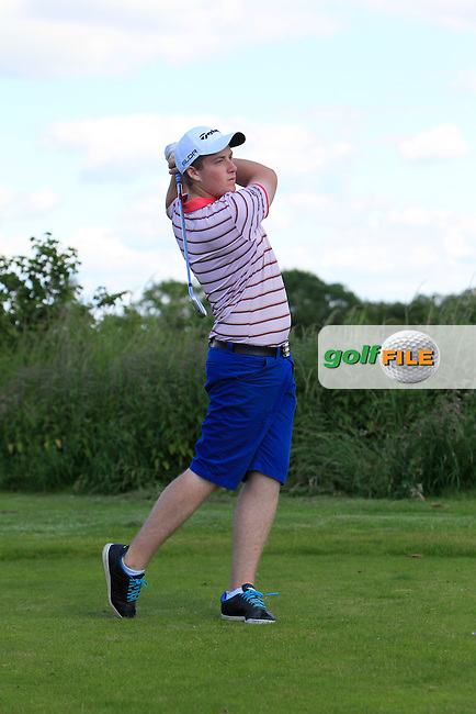Gary Ward (Kinsale) on the 11th tee during Round 2 of the Leinster Youths Amateur Open Championship at Esker Hills on Tuesday 17th June 2014.<br /> Picture:  Thos Caffrey / www.golffile.ie