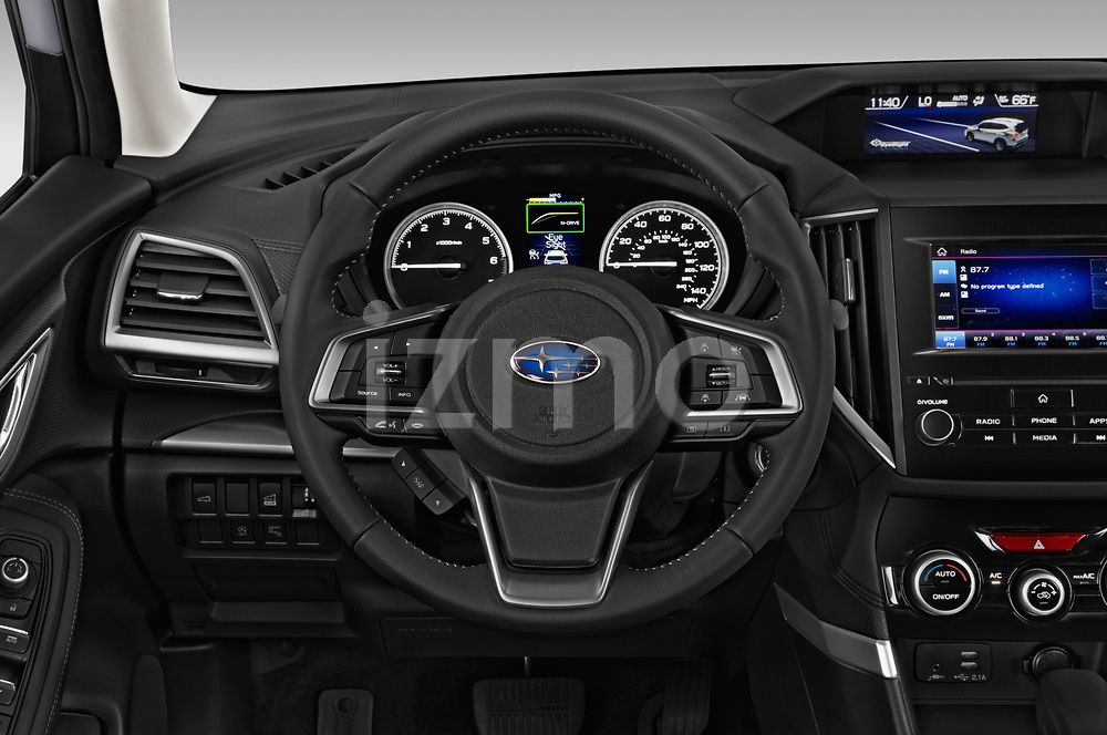Car pictures of steering wheel view of a 2019 Subaru Forester Premium 5 Door Wagon