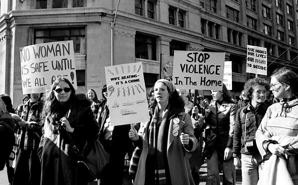 No Woman is Safe Until We all Are- International Women's Day Boston, MA 3.11.78