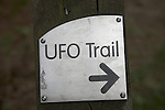 UFO trail, Rendlesham forest, Suffolk, England