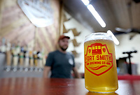 NWA Democrat-Gazette/DAVID GOTTSCHALK One of the drafts available in the new downtown taproom for the Fort Smith Brewing Company located at 115 N. 10th Street at Brunwick Place in downtown Fort Smith.