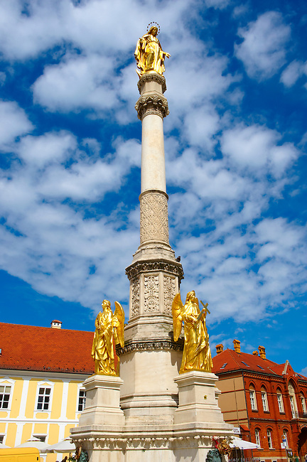 Monument outside the Cathedral of the Assumption of the Blessed Virgin Mary, Zagreb, Croatia