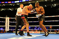 Daniel Dubois (black shorts) defeats Tom Little during a Boxing Show at the The O2 Arena on 23rd June 2018