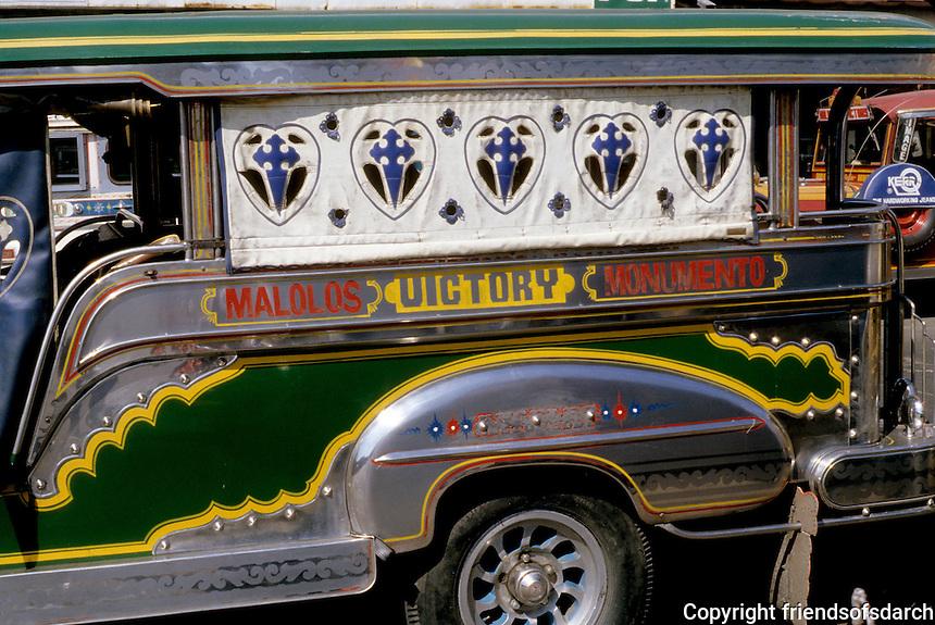 Philippines: Manila--Jeepney detail. Photo '82.