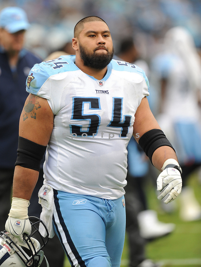 EUGENE AMANO, of the Tennessee Titans, in action during the Titans game against the Carolina Panthers on November 13, 2011 at Bank of America Stadium in Charlotte, NC. The Titans beat the Panthers 30-3.