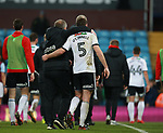 Chris Wilder manager of Sheffield Utd hugs Jack O'Connell of Sheffield Utd during the Championship match at Villa Park Stadium, Birmingham. Picture date 23rd December 2017. Picture credit should read: Simon Bellis/Sportimage