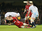 Sam Warburton of Wales tackles David Attwood of England - RBS 6Nations 2015 - Wales  vs England - Millennium Stadium - Cardiff - Wales - 6th February 2015 - Picture Simon Bellis/Sportimage