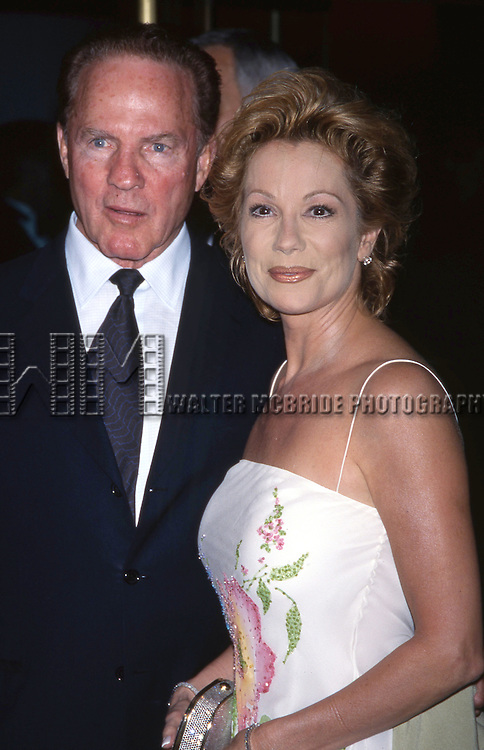 Frank Gifford and Kathie Lee Gifford attend theBroadway Opening of 'Millie' on 4/18/2002 at the Marquis Theatre in New York City.