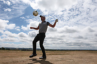 World Cup Fever. Haydn Porteous (RSA) on the practice ground during the ASI Scottish Open 2018, at Gullane, East Lothian, Scotland.  11/07/2018. Picture: David Lloyd | Golffile.<br /> <br /> Images must display mandatory copyright credit - (Copyright: David Lloyd | Golffile).