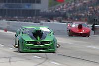 Apr. 26, 2013; Baytown, TX, USA: NHRA top sportsman driver Bob Gulitti during qualifying for the Spring Nationals at Royal Purple Raceway. Mandatory Credit: Mark J. Rebilas-