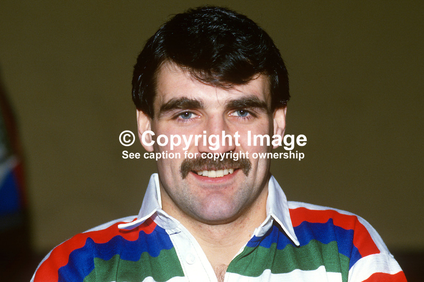 Philip Rainey, rugby player, Ballymena RFC, Irish International, 19860110PR1..Copyright Image from Victor Patterson, 54 Dorchester Park, Belfast, United Kingdom, UK...For my Terms and Conditions of Use go to http://www.victorpatterson.com/Victor_Patterson/Terms_%26_Conditions.html