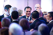 Former Governor Mitt Romney (Republican of Massachusetts), a candidate for the 2012 Republican Party nomination for President of the United States, greets supporters after making remarks at the 2012 CPAC Conference at the Marriott Wardman Park Hotel in Washington, D.C. on Friday, February 10, 2012..Credit: Ron Sachs / CNP