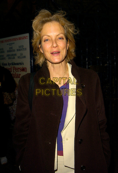 "JENNY SEAGROVE.The ""Absurd Person Singular"" press night, Garrick Theatre, London, England..December 11th, 2007.half length brown coat jacket.CAP/CAN.©Can Nguyen/Capital Pictures"