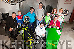This year the Soap Box Derby is coming to town as part of Gather By The Feale 2015, pictured at the launch held last Friday night in Jack Ryan's Bar was l-r: Mike and Joey McElligote, Jamie O'Sullivan, Gearoid Scannell, Paudie Griffin, Jack O'Sullivan, Katelyn Griffin, Liam and Seanie O'Sullivan.