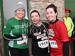 Sharon Mee, Orlaith Reilly and Trishia Gallagher who took part in the Duleek & District 5K run. Photo:Colin Bell/pressphotos.ie