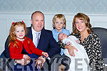 Little Eabha O'Callaghan celebrated her christening with her parents Shane and Aine, big brother Donnacha and Síun in the Dromhall Hotel on Saturday