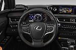Car pictures of steering wheel view of a 2019 Lexus UX Privilege-Line 5 Door SUV