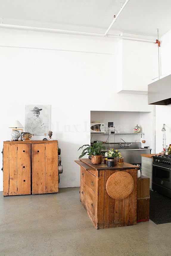 vintage wooden cabinets
