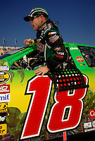 Nov 12, 2005; Phoenix, Ariz, USA;  Nascar Nextel Cup driver Bobby Labonte driver of the #18 Interstate Batteries Chevy during qualifying for the Checker Auto Parts 500 at Phoenix International Raceway. Mandatory Credit: Photo By Mark J. Rebilas