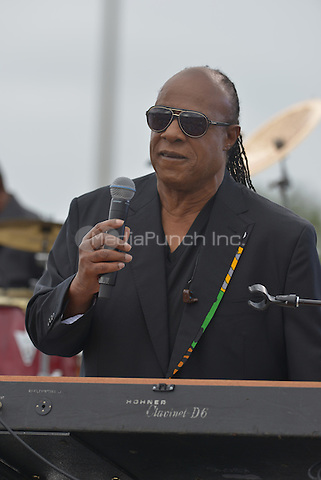 KISSIMMEE, FL - NOVEMBER 06: Stevie Wonder performs before President Barack Obama speak during a campaign rally for Hillary Clinton to a crowd of 11,000 supporters at Osceola County Stadium on Sunday, November 6, 2016 in Kissimmee, Florida. President Obama continued to stomp for Hillary with two day left to the election. Credit: MPI10 / MediaPunch