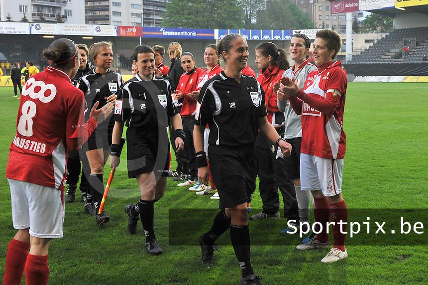 Bekerfinale 2012 : WD Lierse SK - Standard Femina :.Scheidsrechter: Sharon Sluyts en Ella De Vries.foto David Catry / Joke Vuylsteke / Vrouwenteam.be