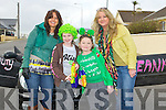 FIRST: First to get themselves in place for the Ballybunion St Patricks Day parade on Saturday l-r: Leanne and Lily Templeson, Ava Carr and Martina Morgan Carr.....