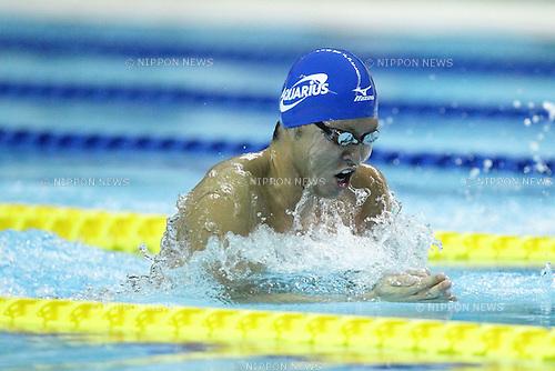 Kosuke Kitajima (JPN), APRIL 9th, 2011 - Swimming : The men's 100m  breaststroke heat in the international swimming competitions selection trial at ToBiO Furuhashi Hironoshin Memorial Hamamatsu City Swimming Pool, Shizuoka, Japan. (Photo by AFLO) [2268].