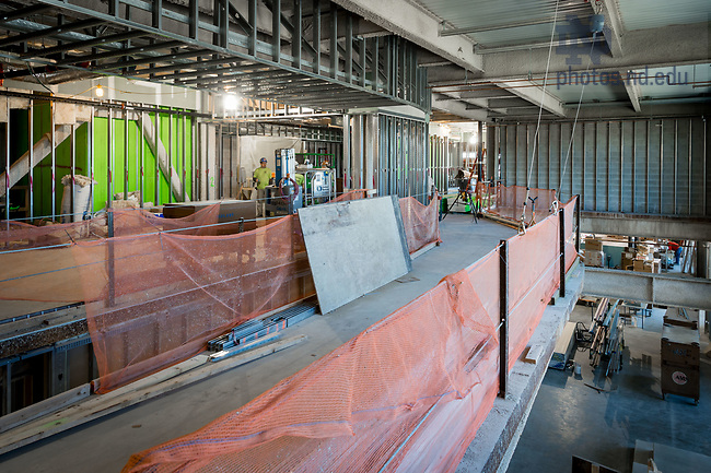 March 8, 2017; Duncan Student Center 4th floor under construction (Photo by Matt Cashore/University of Notre Dame)