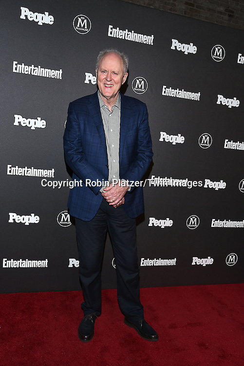 John Lithgow attends the Entertainment Weekly &amp; PEOPLE Magazine New York Upfronts Celebration on May 16, 2016 at Cedar Lake in New York, New York, USA.<br /> <br /> photo by Robin Platzer/Twin Images<br />  <br /> phone number 212-935-0770