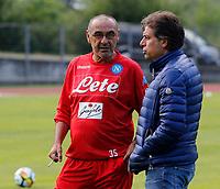 Maurizio Sarri Cristiano Giuntoli durante il  ritiro precampionato del SSC Napoli a Dimaro<br />  05 Luglio  2017
