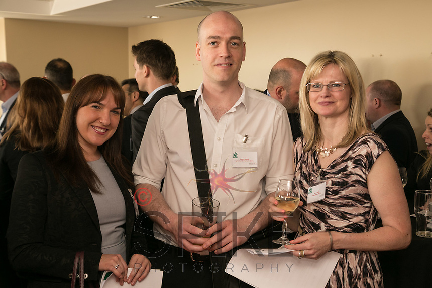 Left to right are Catherine Bird of De Vere EM Conference Centre and Orchard Hotel, Adam Snook of Spectrum Communications and Alison Butlin of Aison Butlin Human Resources