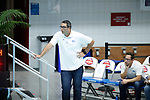 INDIANAPOLIS, IN - MAY 14: Head coach Brandon Brooks of UCLA looks on during the Division I Women's Water Polo Championship held at the IU Natatorium-IUPUI Campus on May 14, 2017 in Indianapolis, Indiana. Stanford edges UCLA, 8-7, to win fifth women's water polo title in the past seven years. (Photo by Joe Robbins/NCAA Photos/NCAA Photos via Getty Images)