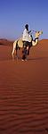 Touareg dans le désert d l'Akakus Libye.