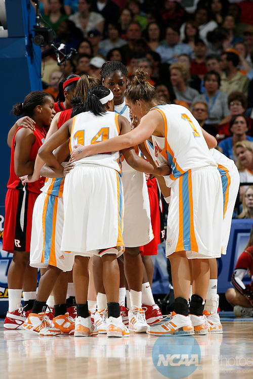 03 APR 2007:  The University of Tennessee takes on Rutgers University during the Division I Women's Basketball Championship held at Quicken Loans Arena in Cleveland, OH.  Jamie Schwaberow/NCAA Photos