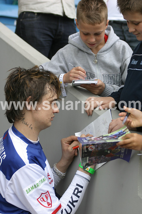 **ALL ROUND PICTURES FROM SOLARPIX.COM**.**WORLDWIDE SYNDICATION RIGHTS**.celebrities playing at the Soccer Six charity football match in London, UK. 18th May 2008..This pic: Pete Doherty..JOB REF: 6439 NYA     DATE: 18_05_2008.**MUST CREDIT SOLARPIX.COM OR DOUBLE FEE WILL BE CHARGED* *UNDER NO CIRCUMSTANCES IS THIS IMAGE TO BE REPRODUCED FOR ANY ONLINE EDITION WITHOUT PRIOR PERMISSION*