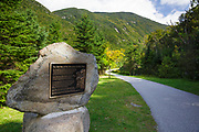Franconia Notch State Park in the White Mountains, New Hampshire USA.
