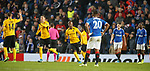 12.12.2019 Rangers v Young Boys Bern: Christian Fassnacht celebrates as Young Boys equalise