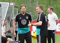 (Assistenz)Trainer Marcus Sorg (Deutschland Germany) und Torwarttrainer Andreas Koepke (Deutschland Germany) vor dem Training - 03.06.2019: Trainingslager der Deutschen Nationalmannschaft zur EM-Qualifikation in Venlo/NL